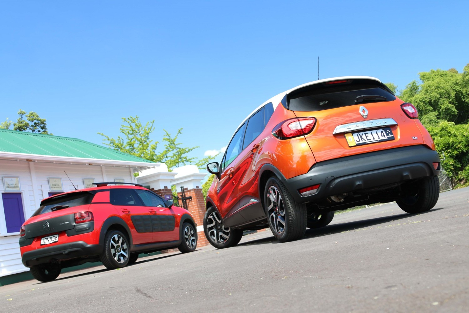Renault Captur versus Citroen C4 Cactus. Photo / Damien O'Carroll For use in Driven Magazine 25th November. DRIVEN USE ONLY