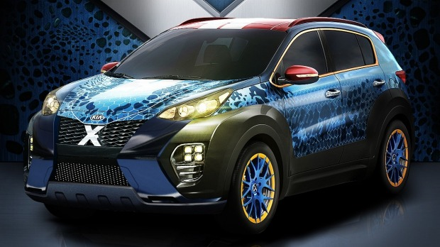 Mutated Kia Sportage takes the X-rated route