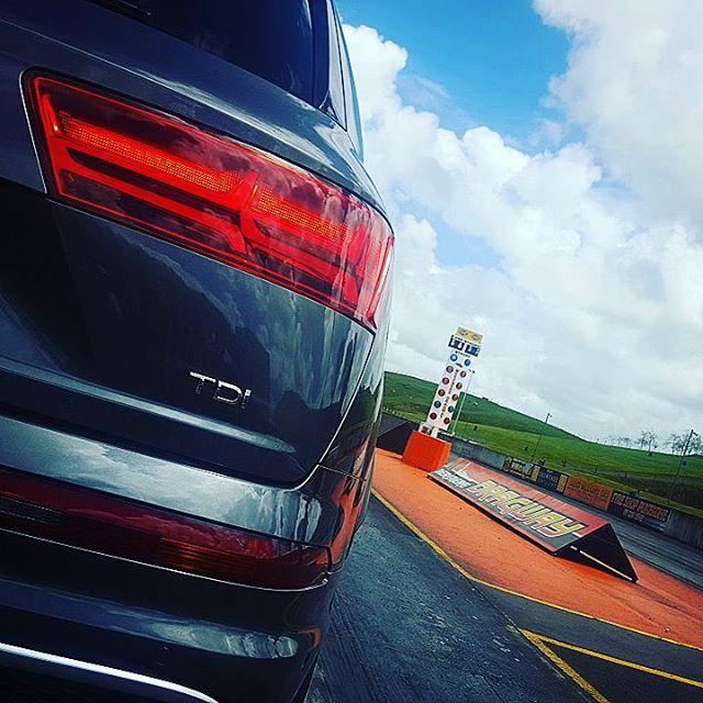 So, yeah… drag racing diesel SUVs today… #Audi # SQ7