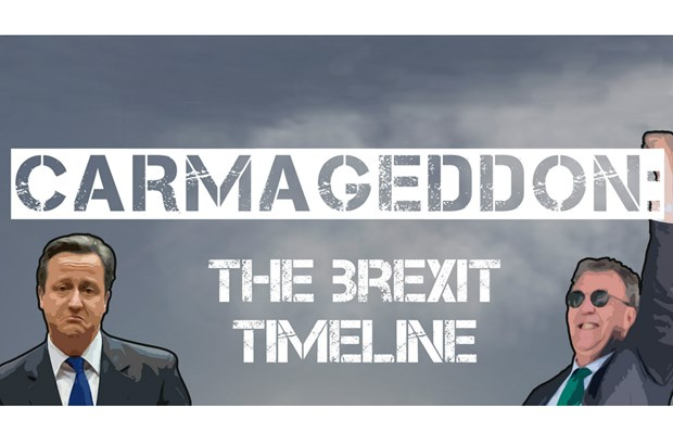 The Brexit Timeline, Carmageddon is Upon Us!