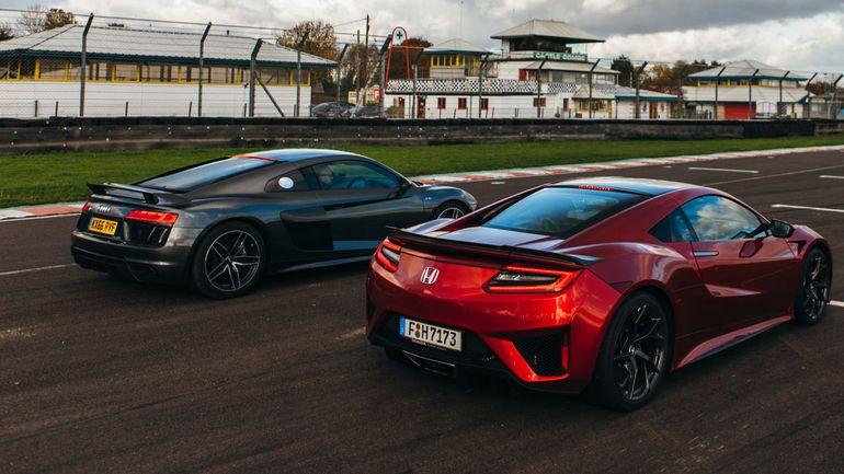 Honda NSX vs Audi R8 V10 Plus: Sci-Fi vs Old School - OVERSTEER