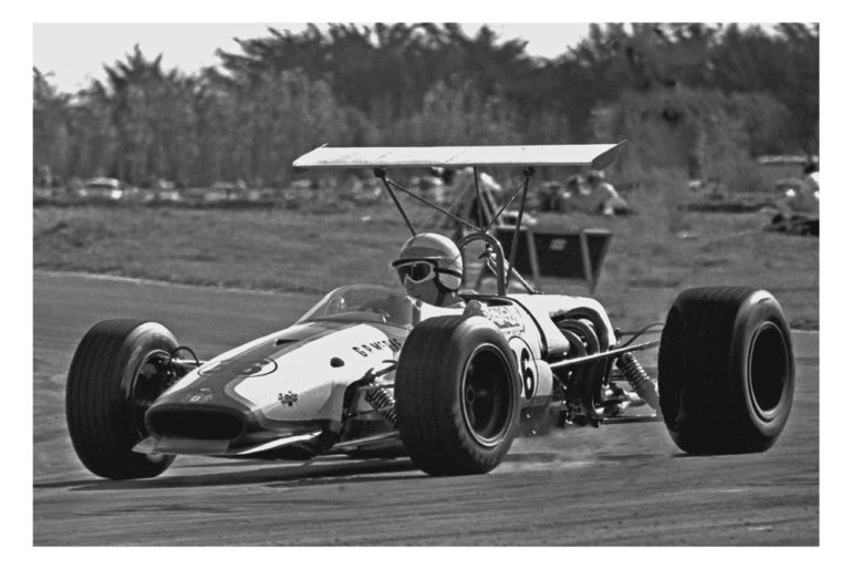 Levin 1969. Graham McRae driving the Brabham BT23c that he bought from Laurence Brownlie IMAGE/terry marshall