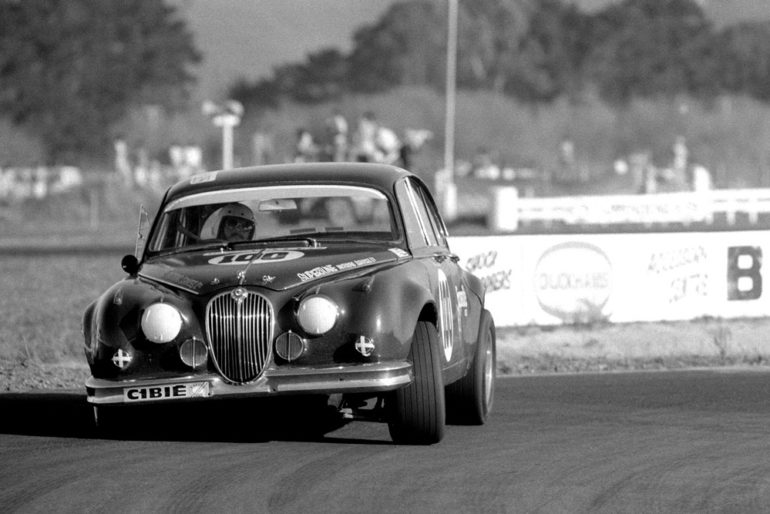 BayPark 1971. Steve Millen in the Jaguar previously driven by David Silcock. IMAGE/terry marshall