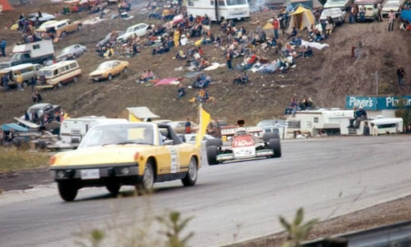 This yellow Porsche 914 was the first ever F1 safety car