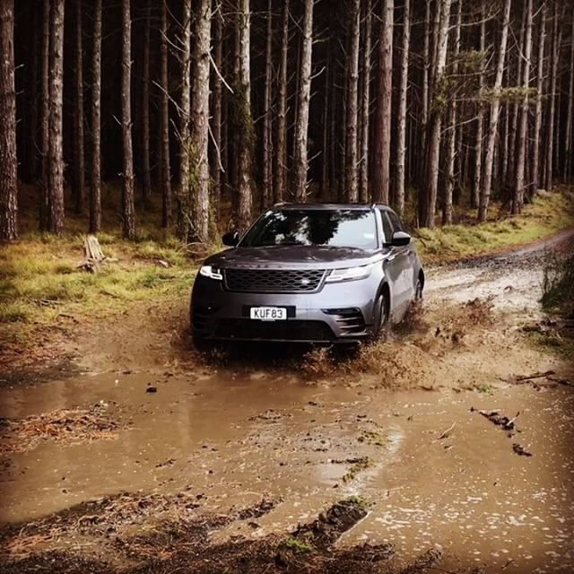 The #RangeRover #Velar is now in NZ. While it is the most road focused Rangie to date, it can still get its wheels muddy…