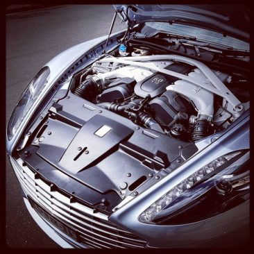 No plastic engine covers for Aston Martin, thank you very much.
