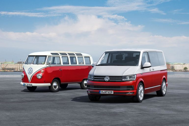 The first five generations of Volkswagen Transporter