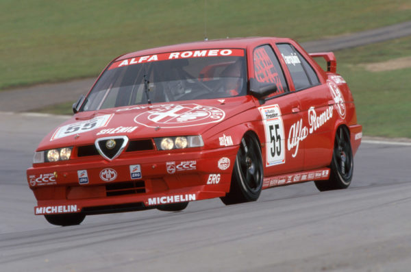 In typical Alfa Romeo fashion, the 155 TS was as stylish as it was powerful. The 155 TS was a source of controversy due to its adjustable aerodynamics, with Alfa Romeo leaving the Oulton Park race in protest in 1994 – nonetheless, Gabrielle Tarquini won the championship in the beautiful Alfa.